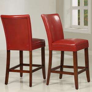 Wine Red Pub Chair, Set of Two